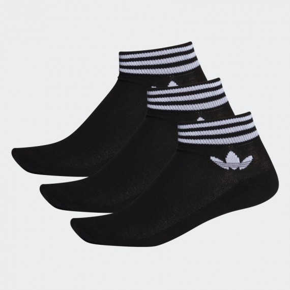 Ankle Socks 3P Black White