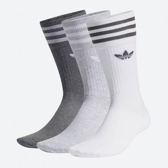 Crew Sock 3P Grey Heather