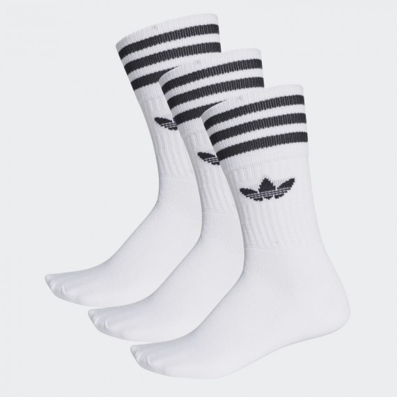 Crew Socks 3P White/Black
