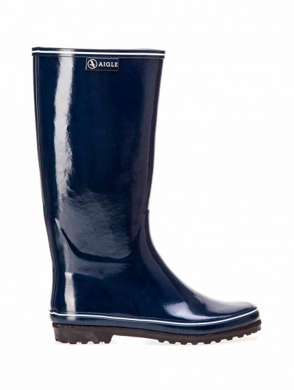 Venise -Women's glossy rubber boots Navy