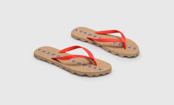 Beach Flip-Flops BASE Red Rubber Strap