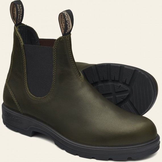 2052 Premium Leather Chelsea Boot Dark Green