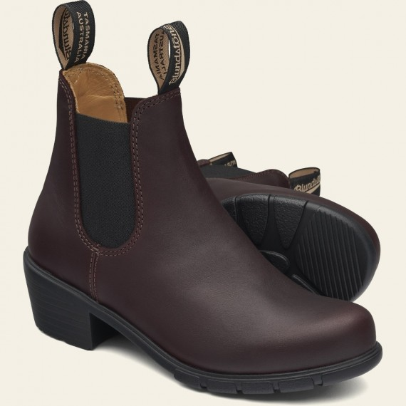 2060 Leather Heeled Boots Shiraz
