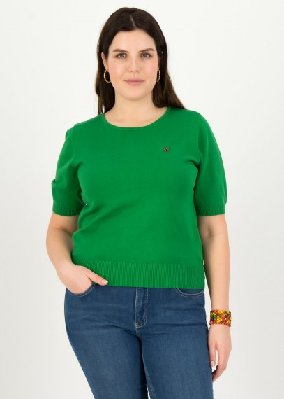 Logo Pully Roundneck 1/2 arm Green