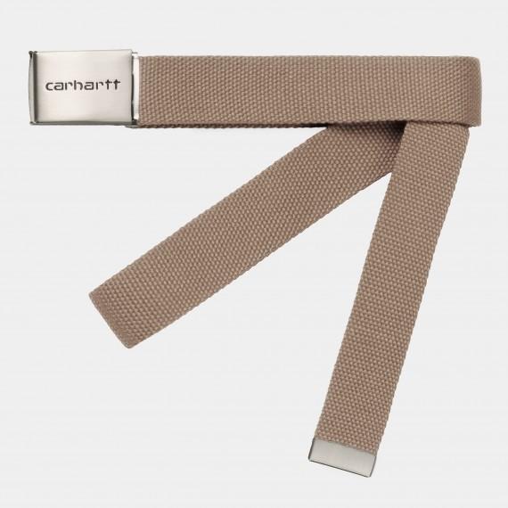 Clip Belt Chrome Leather