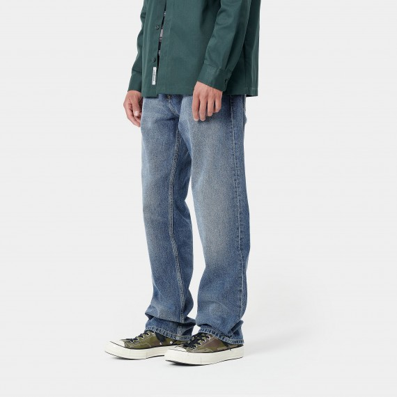 Marlow Pant Blue Mid Used Wash