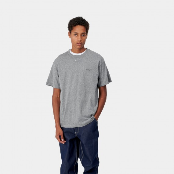 S/S Script Embroidery T-Shirt