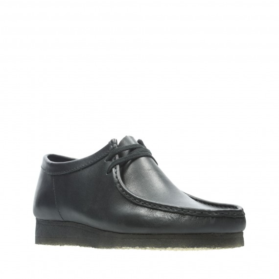 Wallabee Leather Black