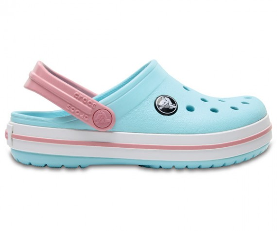 Crocband Kids  Ice Blue/White