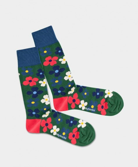 DillySocks Floral Grass
