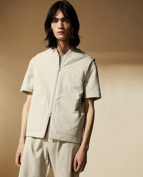 Kenny Vest Linen Grey