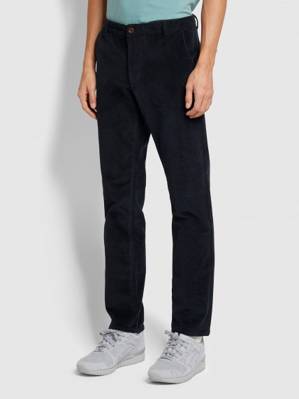 Farah Elm Regular Fit Cord Trousers In True Navy