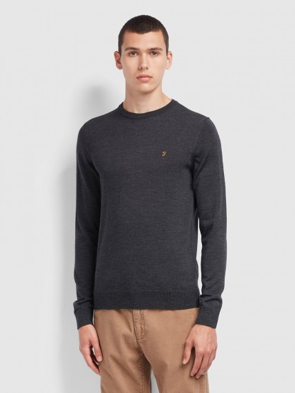Mullen Merino Wool Jumper Grey