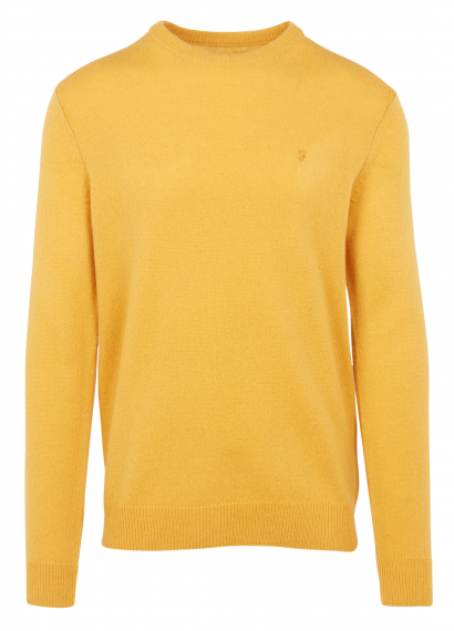 Rosecroft Lambswool Crew Neck Jumper Gelb