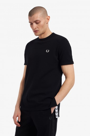 Taped Open Tee Black