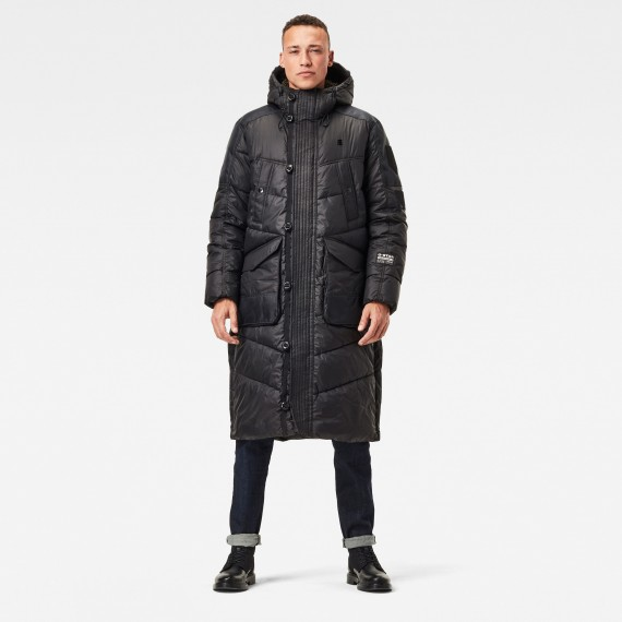 Utility Quilted Hooded Extra Long Parka