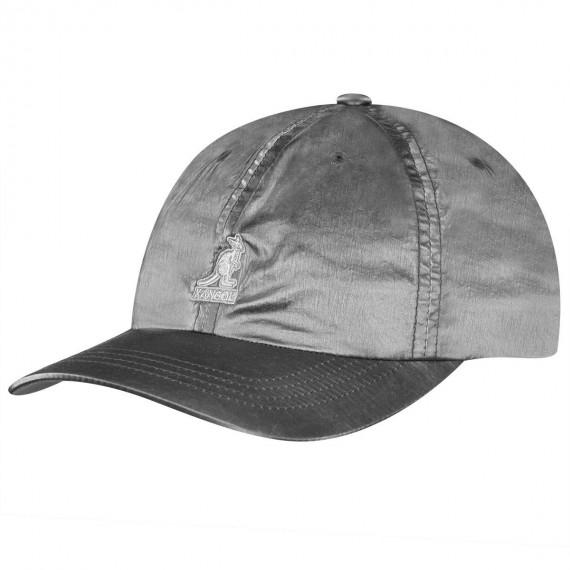 Iridescent Baseball Cap Silver