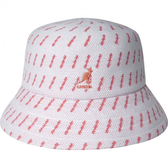 Rain Drop Bucket Hat White Peach