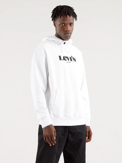 Relaxed Graphic Hoodie White