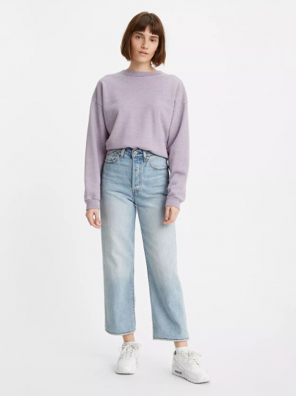 Ribcage Straight Ankle Jeans Middle Road