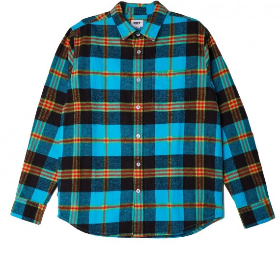 Orchard Woven Checked AquaMulti