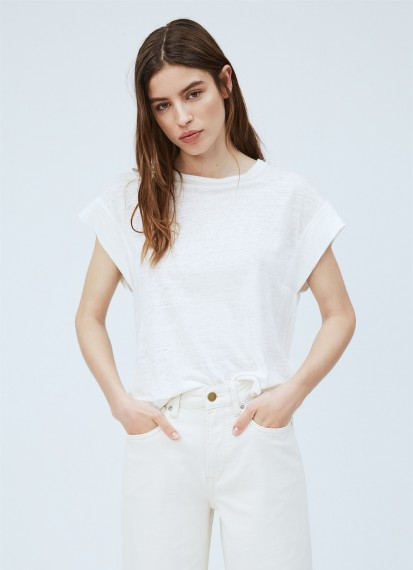 Cleo Linen Tee Off White