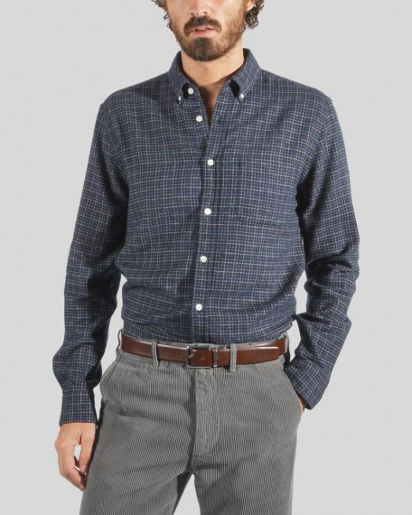 Balcony Square Flannel Navy