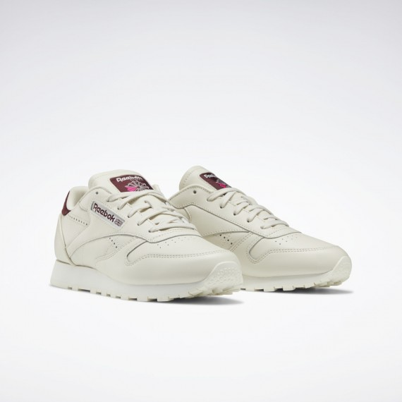 Reebok Classic Leather Alabaster / Maroon / Chalk
