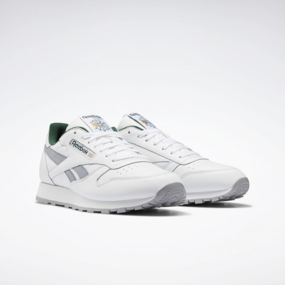 Reebok Classic Leather White / Cool Shadow / Utility Green