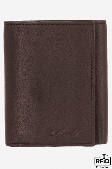 Mini Trifold Wallet - Brown