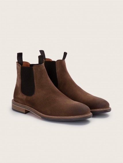Pilot Chelsea Suede Fango Boots for Men