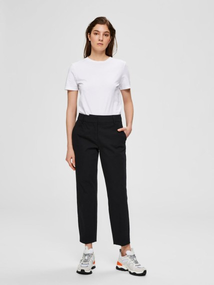 Selected Femme Ria MW Cropped Black