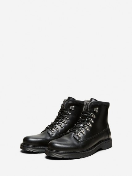 Mads Leather Warm Boot Black