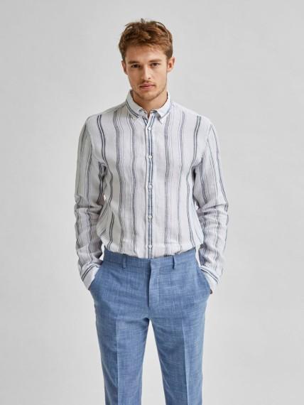 Rex Rock Striped Linen Shirt