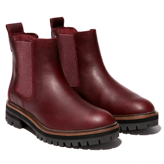 London Square Chelsea Boot for Women in Burgundy