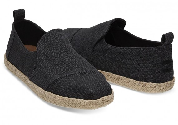 Toms Alpargatas Deconstructed  Black Canvas Herren