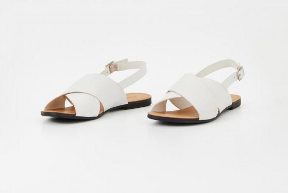 Tia Cross Sandal L White