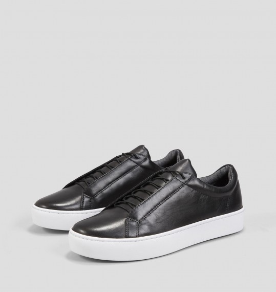 ZOE Black Leather Sneakers