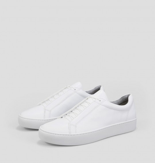 ZOE White Leather Sneakers
