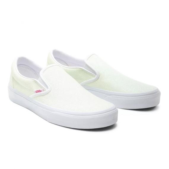Classic Slip On (Uv Glitter) Pink/True White